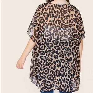 Sweaters - PLUS SIZE 🖤 leopard print kimono sheer